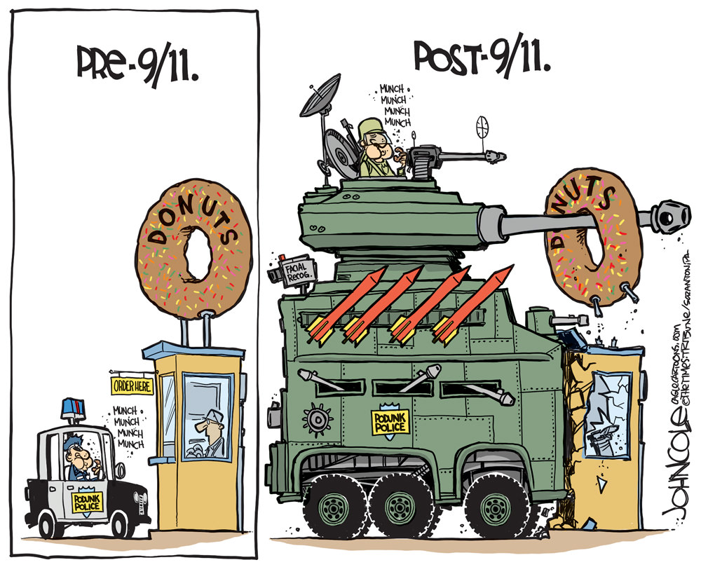 Militarized Cops and Donuts
