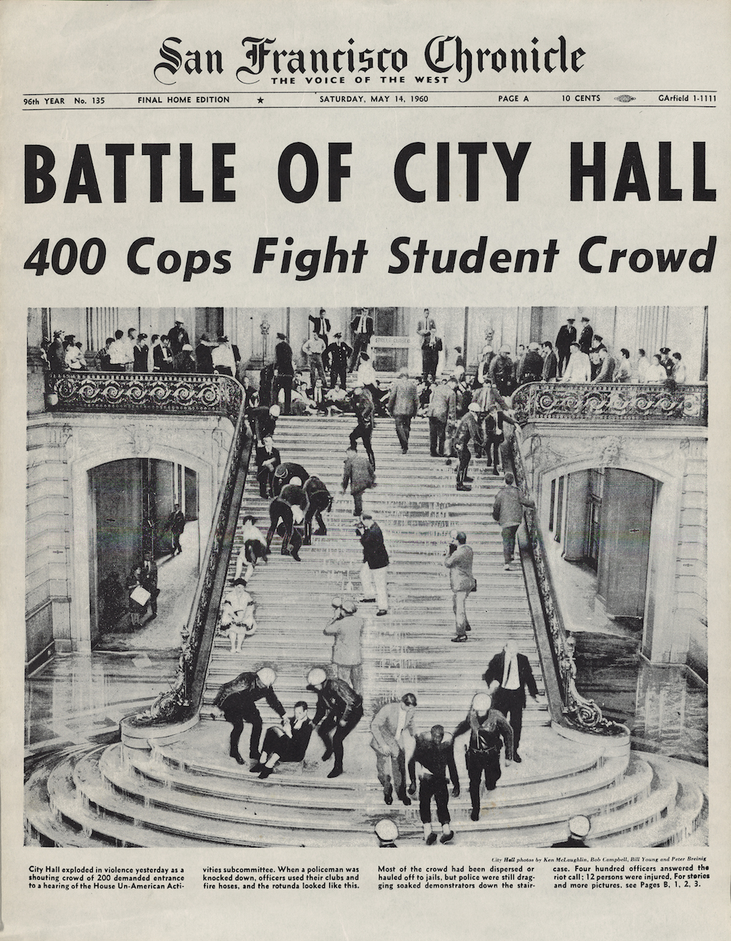 Battle of City Hall: 400 Cops Fight Student Crowd