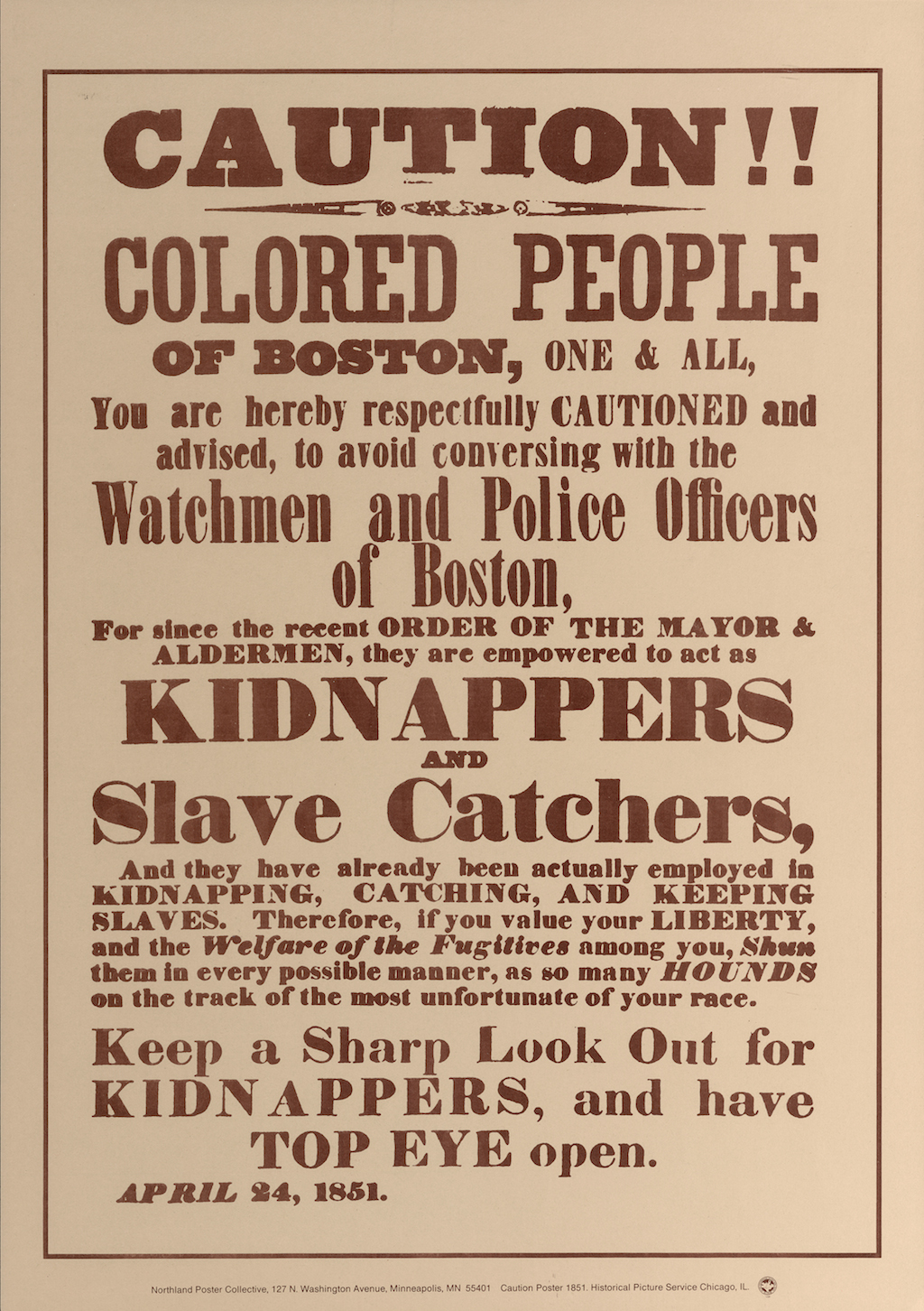 Caution Poster 1851