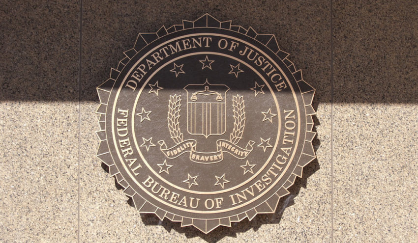 The FBI emblem on the J. Edgar Hoover FBI Building in Washington D.C