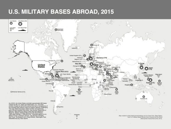 Time To Close Our Foreign Military Bases Truthdig - Us Military Bases Around The World Map