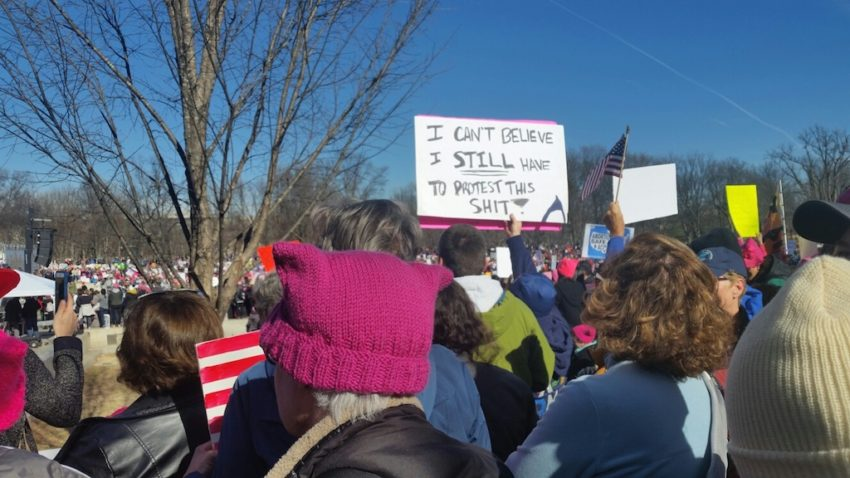 Huge crowds rally for anti-Trump Women's March across US